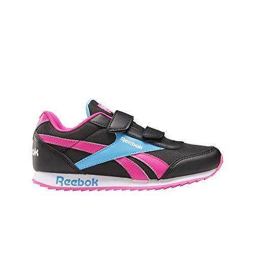 Reebok Royal CLJOG 2 2V, Zapatillas de Running para Niñas, Negro/PROUDP/CALBLU, 32 EU