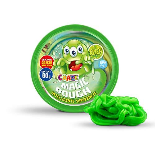 Craze 15421 Kinder Alien Glibber Intelligente Superknete, Magic Dough, ca. 80 g in Dose, BPA-und glutenfrei