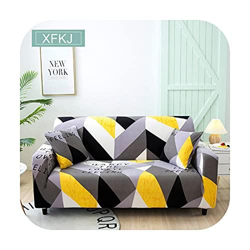 Universellt sofföverdrag stretch elastiskt för vardagsrum fåtöljöverdrag soffa överdrag skydd enkel/två/tre sits-XFKJ-2-sits (145-185 cm)