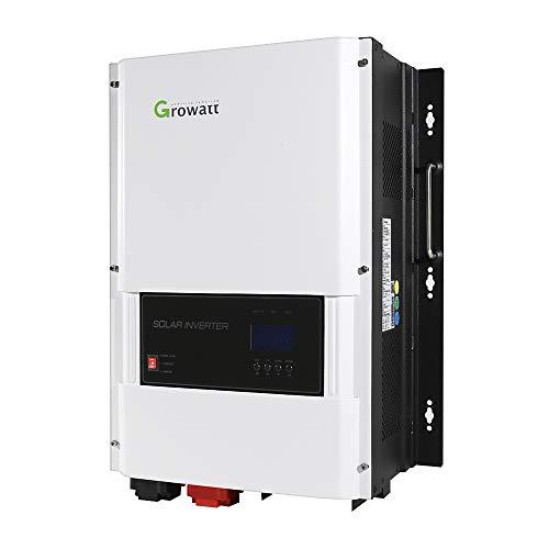 Soniker Solar Inverter Growatt 48V 6000W Split Phase Solar Inverter Built-in 80A MPPT Solar Charge Controller,Pure Sine Wave AC Output120/240V