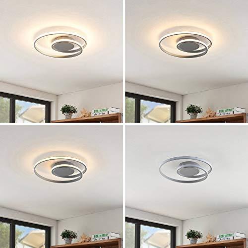 Lindby LED Deckenleuchte 'Kyron' dimmbar (Modern) in Alu aus Aluminium u.a. für Wohnzimmer & Esszimmer (A+, inkl. Leuchtmittel) - Lampe, LED-Deckenlampe, Deckenlampe, Wohnzimmerlampe