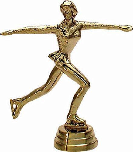 RaRu Eiskunstlauf-Figur (Damen) auf schwarzem Marmorsockel mit Gravur
