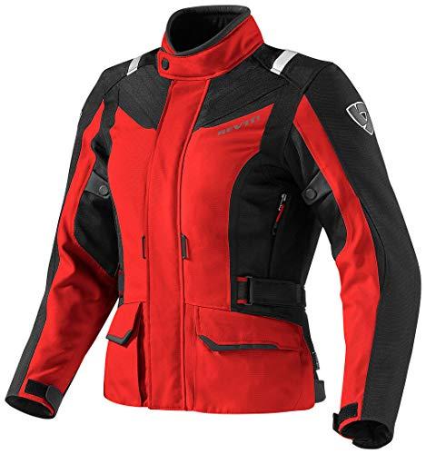 Revit Voltiac - Chaqueta de motorista para mujer, color rojo y negro, talla 42