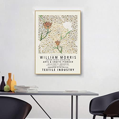William Morris Obra de arte Póster Flor Hojas Lienzo Arte pared Pintura de impresión abstracta Galería moderna Cuadros sala de estar Decoración de arte pared 30×40cm Sin marco N8