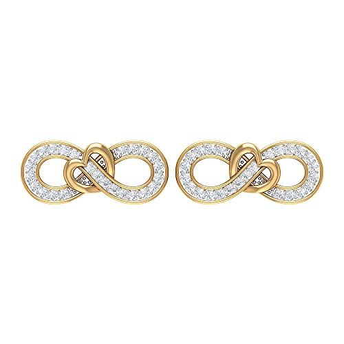 Rosec Jewels 14 quilates oro amarillo redonda H-I Diamond