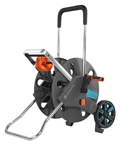 Gardena CleverRoll L Easy: carro para mangueras con una capacidad de hasta 100 m, con enrutamiento conveniente de mangueras en un marco de metal robusto, instalación sin herramientas (18520-20)