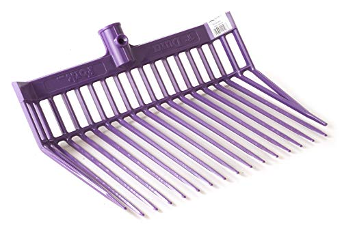 LITTLE GIANT DuraFork Pitch Fork Replacement Head (Purple) Durable Polycarbonate Stable Fork Head with Angled Tines (Item No. PDF103PURPLE)