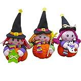 Demarkt 3Pcs Muñeco de Peluche de Halloween Divertida Muñeca Bruja Calabaza Decoración Adornos