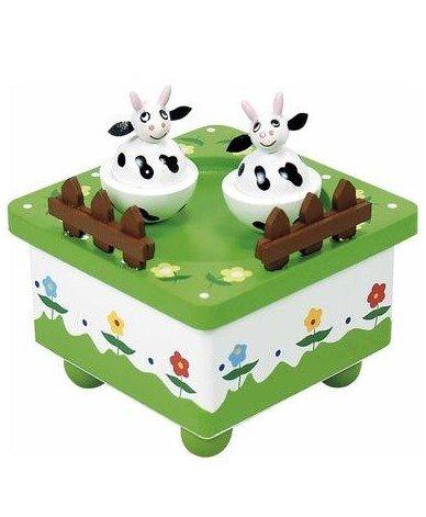 Inconnu Boite à Musique en Bois Décoration Berceuse pour Enfant bébé - Vache