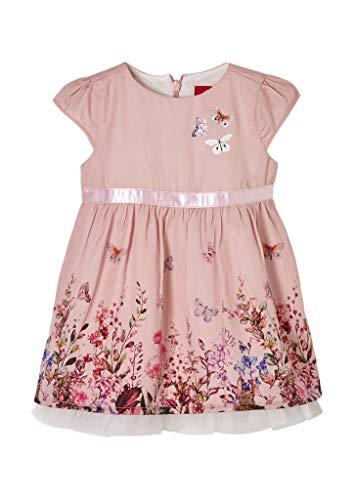 s.Oliver Unisex - Baby Festliches Kleid mit unterlegtem Mesh rose 62