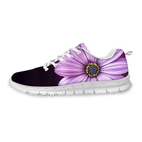 FOR U DESIGNS Vintage Purple Style Women's Flex Comfortable Walking Running Shoe Sneaker US 9