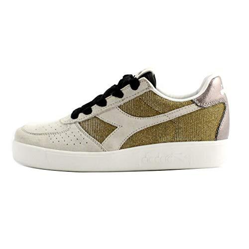 Diadora B.Elite Wn Premium Donna, Pelle Liscia, Sneaker Bassa, 6 EU