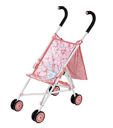 Zapf Creation 703922 Baby Annabell Active Stroller with Bag, leichter und wendiger Puppenbuggy mit Gurtsystem und praktischer Tasche, Griffhöhe 62 cm, Puppenzubehör für Puppen bis ca. 43 cm
