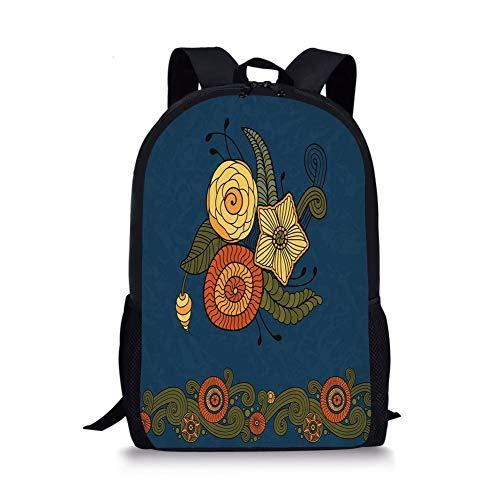 Floral Petal Form Nature Large Weekender Carry-on Ambesonne Ethnic Gym Bag
