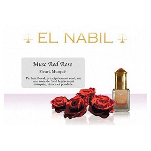 Pack de 12 EL NABIL 5ml Musc Red Rose 100% huile