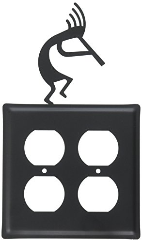 8 Inch Kokopelli Double Outlet Cover