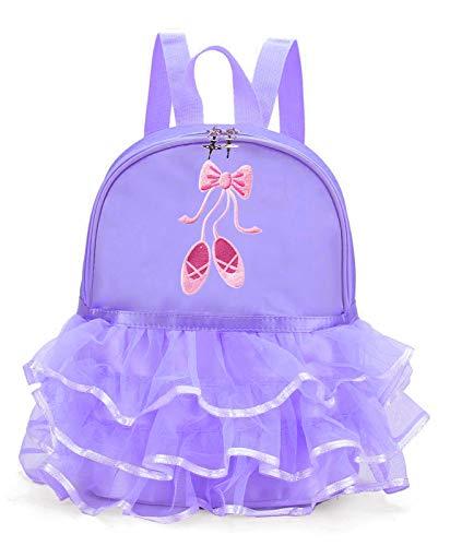 Z&X - Mochila de ballet para niña con encaje para bailarina