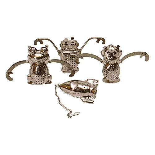 Motiv Teesieb in Frosch-, Affe-, Rakete- oder Roboterform - Teeei Tee Ei Tee Sieb