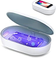 Mediweave UV Disinfection Box with Wireless Charging | UVC Sterilizer Box UV Sanitiser Box with Qi 10W Wireless Charger,...