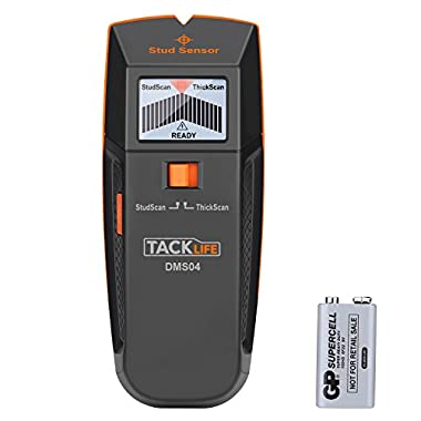 Stud Finder, Tacklife DMS04 Stud Sensor, Edge Finding Electronic Wall Scanner, Multi-Functional wall Detector, Metal/Live AC Wire/Wood Stud Scanner with LED/Sound Warning Indicator