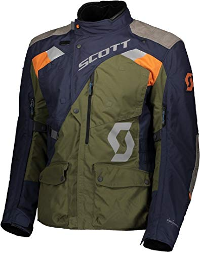 Scott Dualraid Dryo D-Size Motorrad Jacke blau/grÃŒn 2020: Größe: XL (52/54)