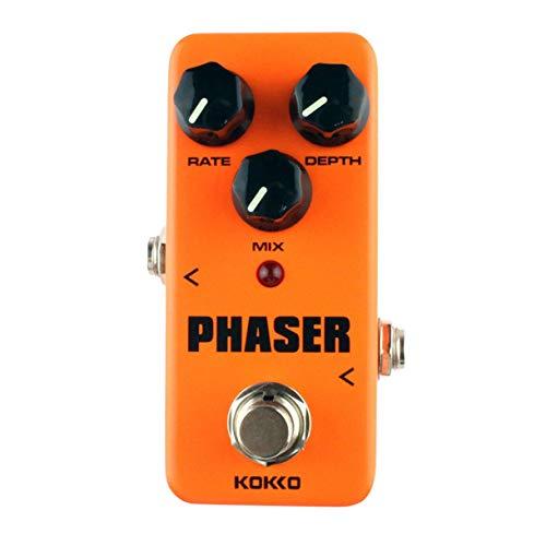 Kokko FPH2 Phaser Mini elektrische Gitarren-Effekt-Pedal-Warm Analog Phase Effect Soundprozessor True Bypass Gitarrenzubehör (Farbe: Orange)
