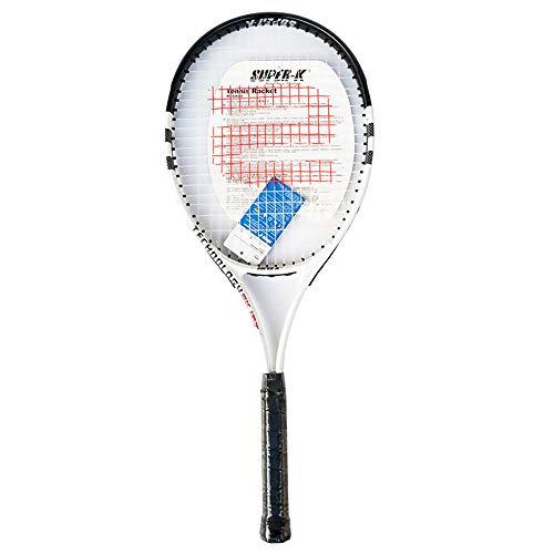 ZKDY Raqueta De Tenis De Aluminio Raqueta De Tenis De Deportes Al Aire Libre Raqueta De Entrenamiento Amateur-Negro