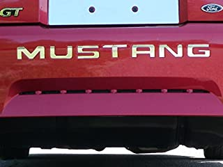 QAA fits 1999-2004 Ford Mustang (7 Piece Stainless Mustang Rear Bumper Letter Inserts, 1.75