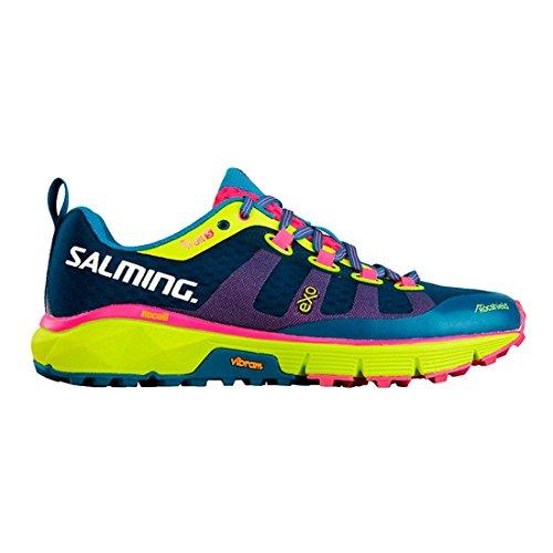 Salming Trail 5 Shoe Women Blue Fluo Yellow 38