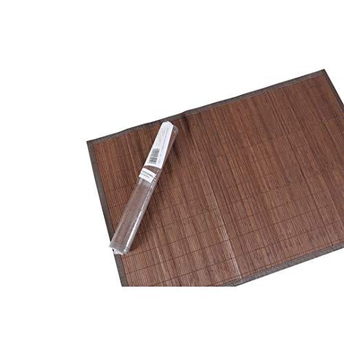 LEYENDAS Alfombra Antideslizante de Bambu,Alfombrilla de baño,Pasillo o Salon Repelente al Agua para la Ducha, marrón Oscuro (115_x_170_cm)