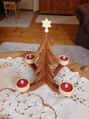 Adventsleuchter Adventslicht Handarbeit Teelichthalter Weihnachtsdeko Kerzenhalter Leuchter