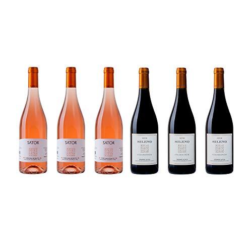 Box Degustazione Vini Toscana - Rosato e Rosso Ciliegiolo - Sator - 6 Bottiglie 0,75 L - Idea Regalo