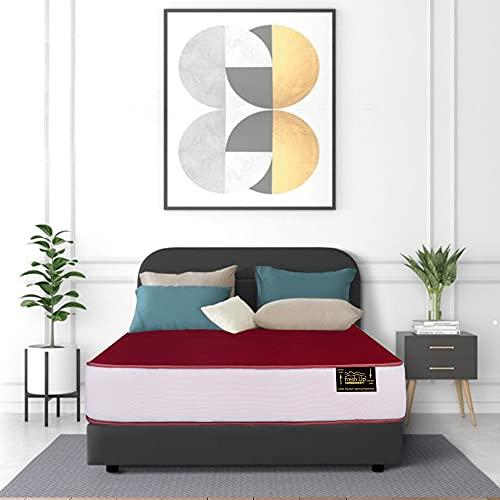 Fresh Up 6-inch Medium Firm Single Bed Size Pocket Spring Mattress (72x36x6 inch, Pocket Spring, Red)