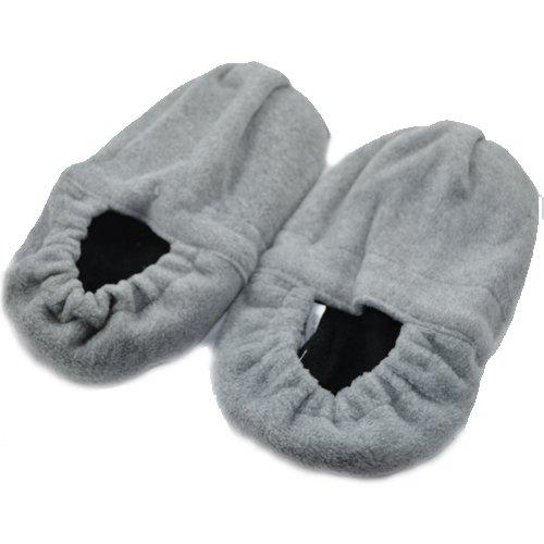 Wärme Pantoffel Socken Hausschuh Gr.M 35-38 grau