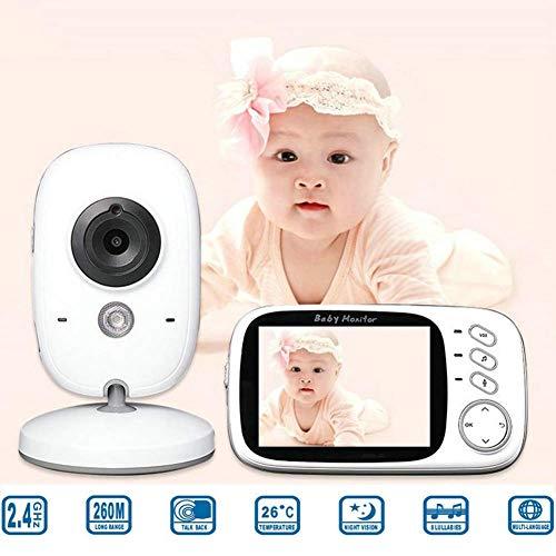 SWEET Le Moniteur pour Bébé avec Caméra Et Audio Peut Transmettre Une Résolution De 850 Pieds avec Surveillance De La Température Et Interphone Vocal.