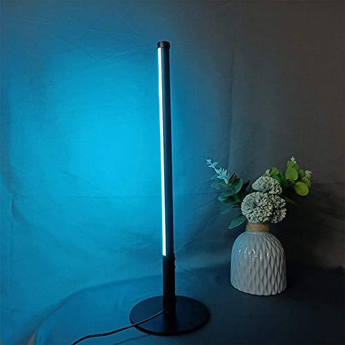 JAKROO Moderno RGB Lámpara de Mesa, con Control Remoto Regulable Lámpara de Escritorio, Lámparas de Cabecera Luz de Humor, for Kids, Bedroom, Camping