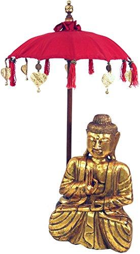 Guru-Shop Ceremoniële Paraplu, Aziatische Decoratieve Paraplu Medium - Rood, 92x50 cm, Paraplu`s