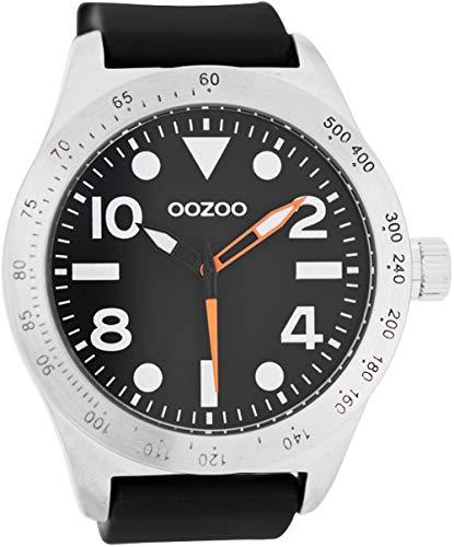 Oozoo c6753–Orologio da uomo, cinturino in silicone colore nero