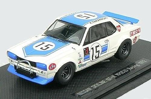 marcas de diseñadores baratos EBBRO 1 43 Nissan Skyline GT-R KPGC10 Racing     15 blanco   azul (japan import)  alta calidad y envío rápido