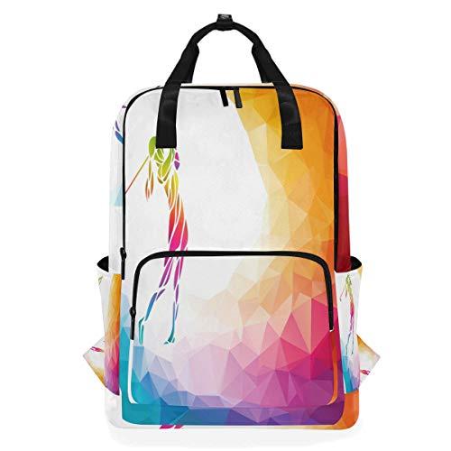 Alarge Laptop-Rucksack, Regenbogenfarben, geometrisch, Golfball, Business, Schule, Uni, Buchtasche, Reisen, Wandern, Camping, Tagesrucksack für Studenten und Jugendliche