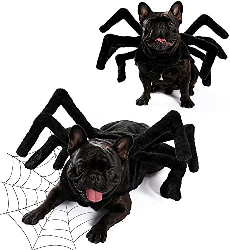 PAWZ Road Dog Spider Costume Halloween Pet Costumes with Furry Spider Legs from Small to XLarge Size...