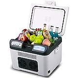 FHISD Réfrigérateur de Voiture 26L Glacière électrique - Mini réfrigérateur/réchaud Portable pour Voiture de réfrigération à Double cœur, idéal pour Le Camping, Les Voyages et