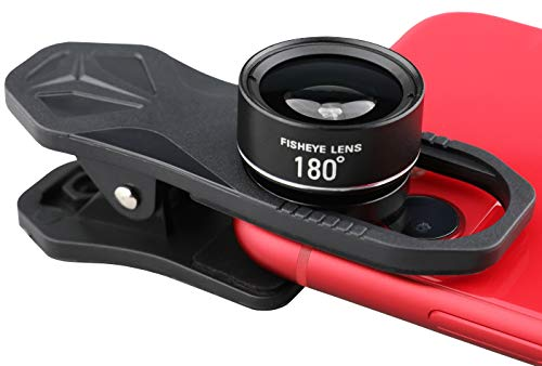 180° fisheye Lens,for iPhone,Samsung,Pixel,BlackBerry etc,with Clip,Cell Phone Lens,anamorphic Lens,Funny Pictures