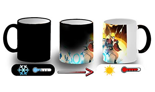MERCHANDMANIA Taza MÁGICA Naruto NINJUSTSU Tecnica Magic mug