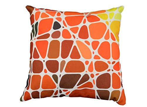 Lot de 2 Coussins Galets - 45 x 45 - Orange