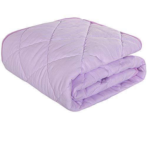NTBAY Down Alternative Toddler Comforter, Lightweight and Warm Solid Color Baby Crib Quilted Blanket, 39 x 47 inches, Light Purple
