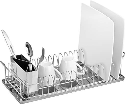 M-Home | Égouttoir Vaisselle | Métal | Chromé | 48 x 21 x 11 cm | DRINOX ONE | INX302
