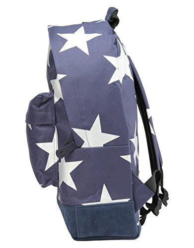 Mi-Pac Stars Xl Backpack Mochila Tipo Casual, 41 cm, 17 Litros, Navy/Silver