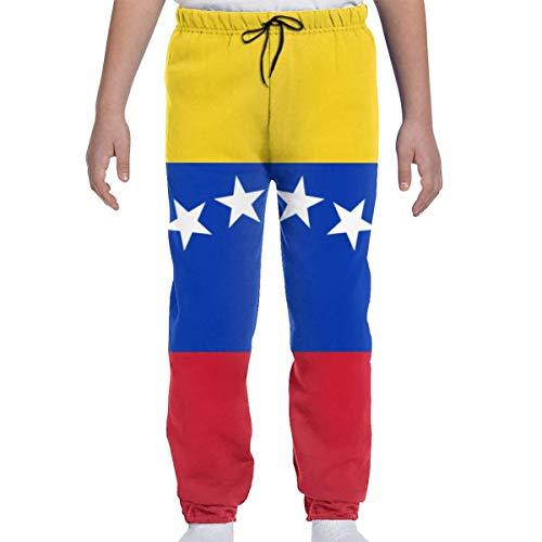 Yesbnow Adolescentes Niños Niñas Pantalones de chándal Pantalones Deportivos para Trotar o Pantalones Deportivos, Bandera de Venezuela
