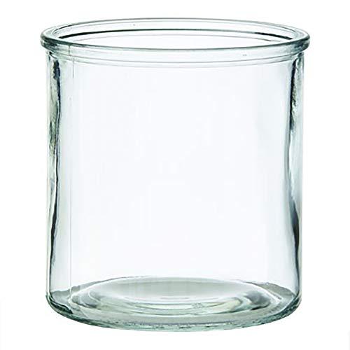 Annastore Windlichter aus Glas in klassischer Zylinderform H 10 cm - H 12 cm oder H 15 cm - Kerzenglas und Teelichtgläser für viele Dekorationen (6 x Ø 15 cm/H 15 cm)